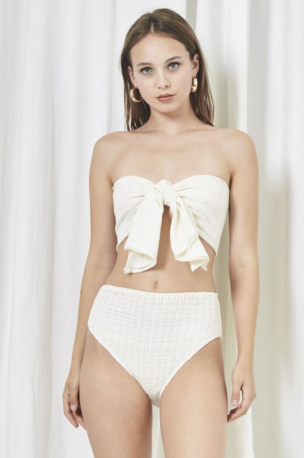 Have Mer-Sea White Cotton Bikini