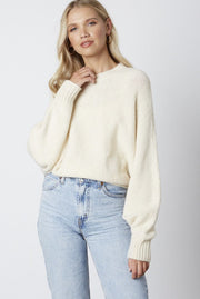 You're Invited mock neck sweater