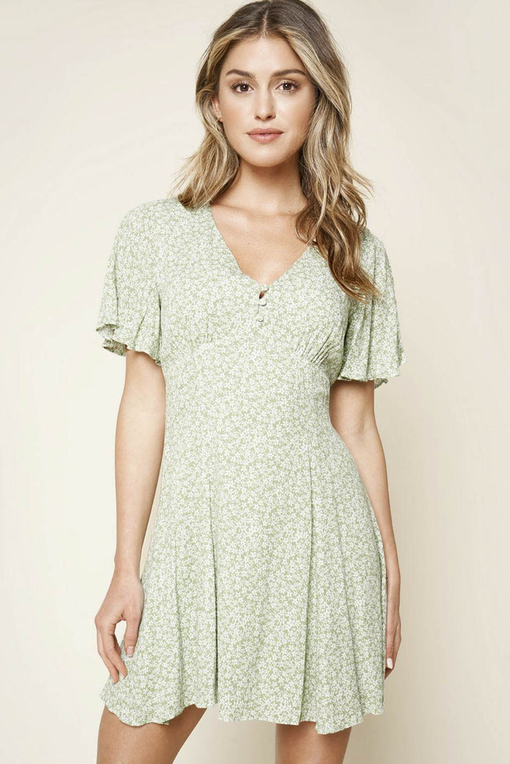 Cher Karma floral print swing dress