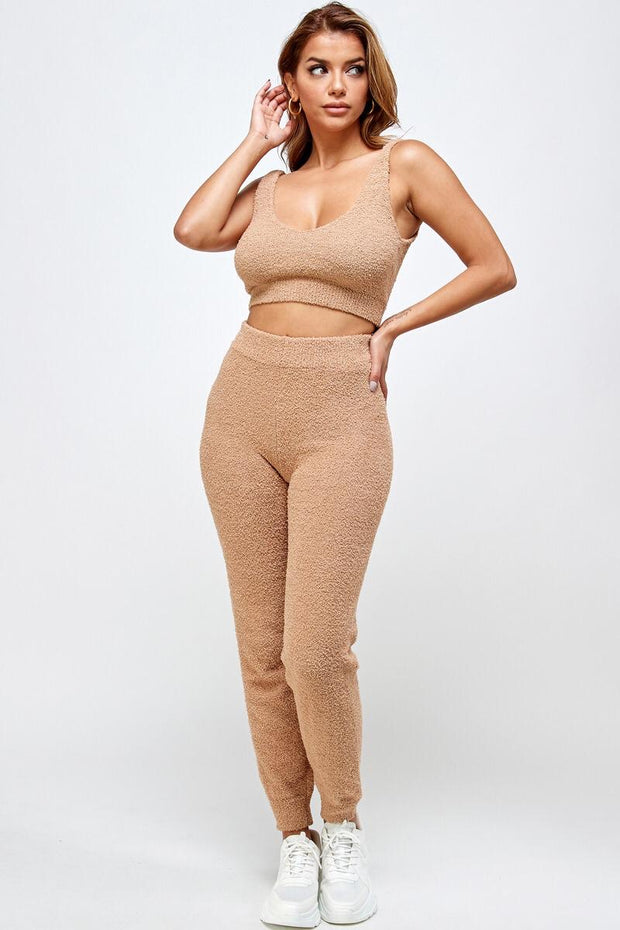 Mocha Teddy Taupe Lounge Set