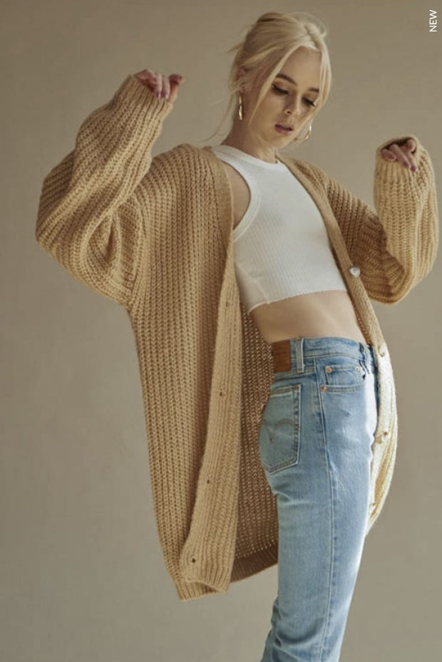 My Way knit oversized cardigan