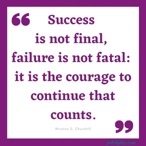 quote success is not final