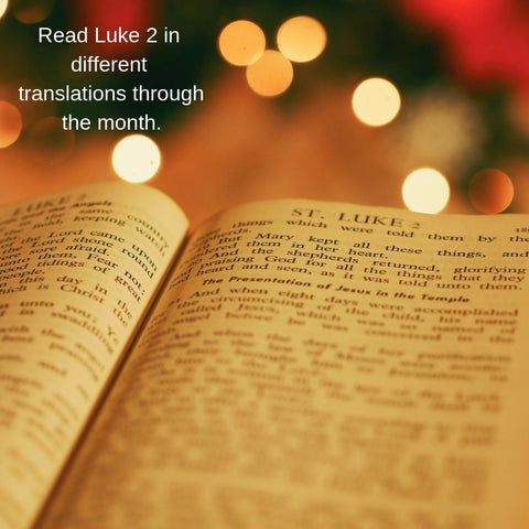 Bible open to Luke 2