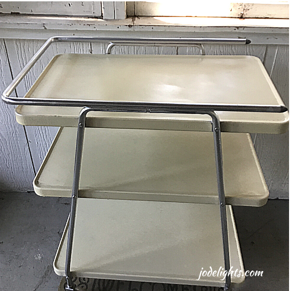 mid-century modern kitchen cart