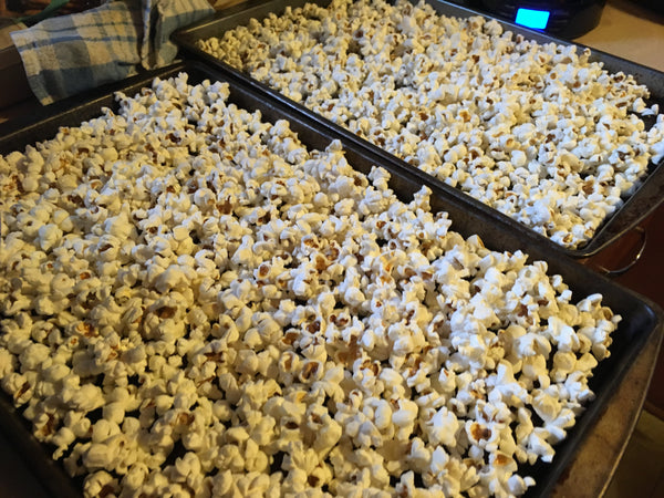 popcorn in pans