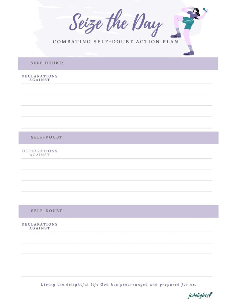 Seize the Day; Combating selft doubt action planner