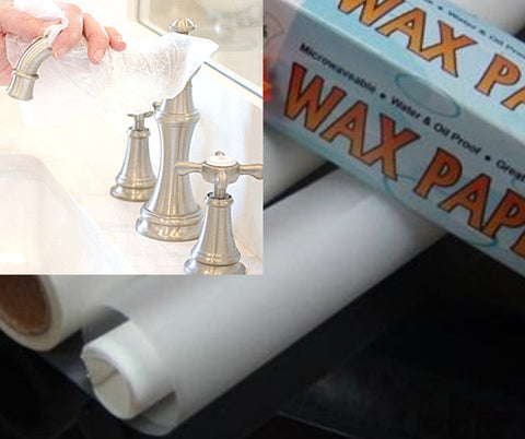 wax paper to polish chrome
