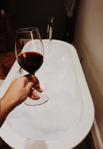 wine bathtub