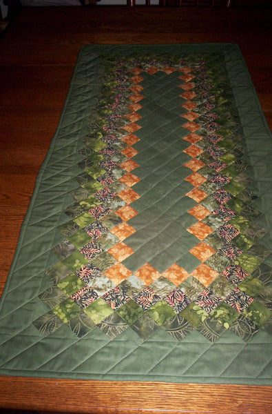 Symphony of Greens Table Runner