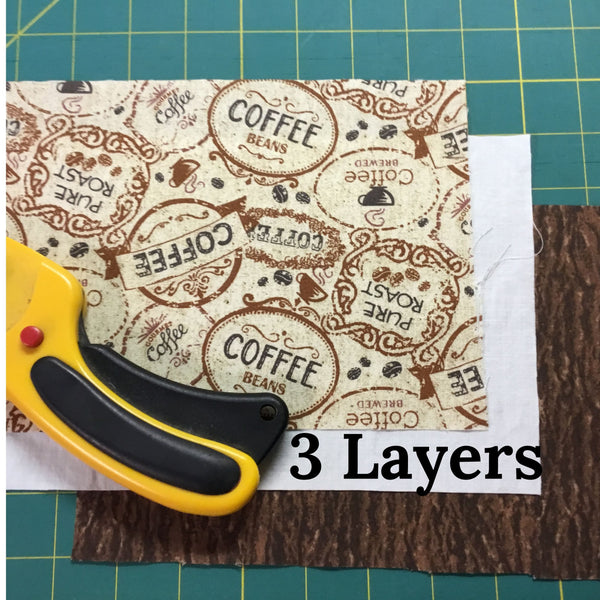3 layers used to make coffee face mask