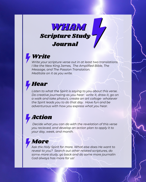 WHAM Scripture Study Journal