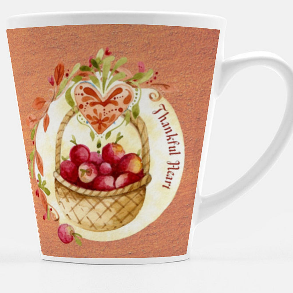 Latte Mug-Thankful Heart