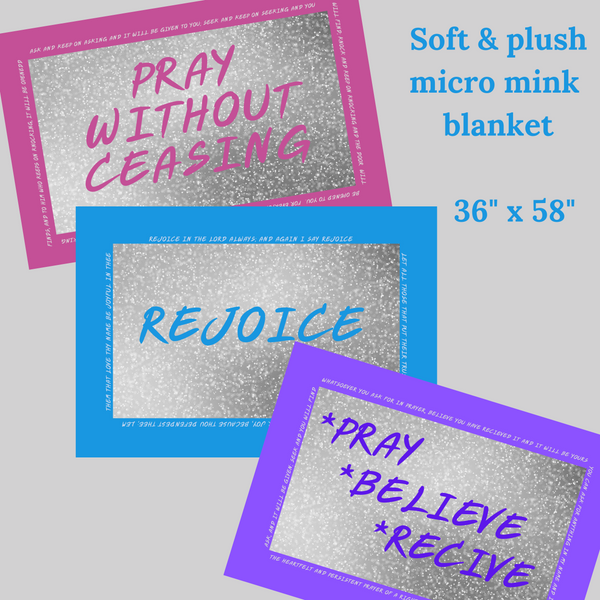 Pray Without Ceasing Christian prayer blanket,