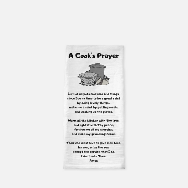 A Cooks Prayer Tea Towel