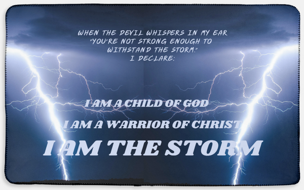 I am the Storm Christian Prayer Blanket
