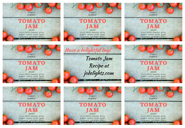 Tomato Jam Printable Canning Labels