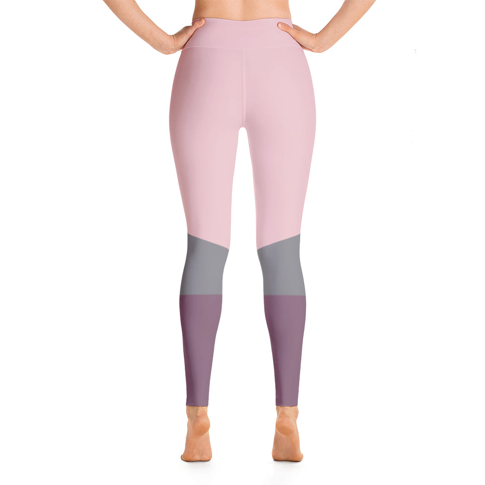 Namaste High Waisted Leggings- Pink
