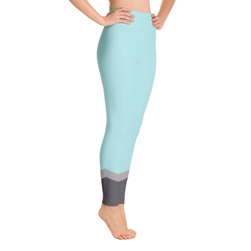 Namaste High Waisted Leggings- Turquoise