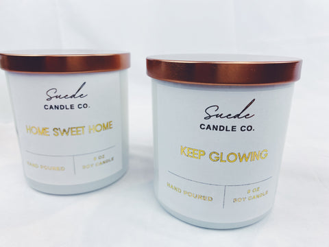 Custom Labeled Candles