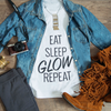 Eat, Sleep, Glow, Repeat Maternity Tee (Black)
