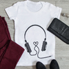 Headphones Maternity Tee (Black)