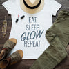 Eat, Sleep, Glow, Repeat Maternity Tee (Gray)