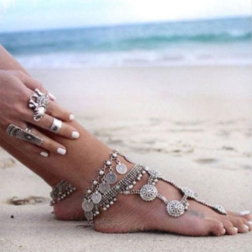 Boho Coin Anklet (Silver/Gold)
