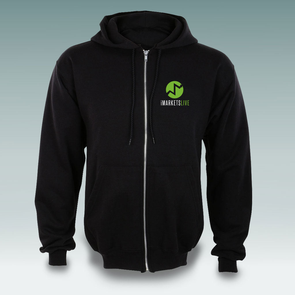 IML Gear - Black Zip-Up Hoodie - Silk Screen Logo | $15 OFF! BLOWOUT SALE!