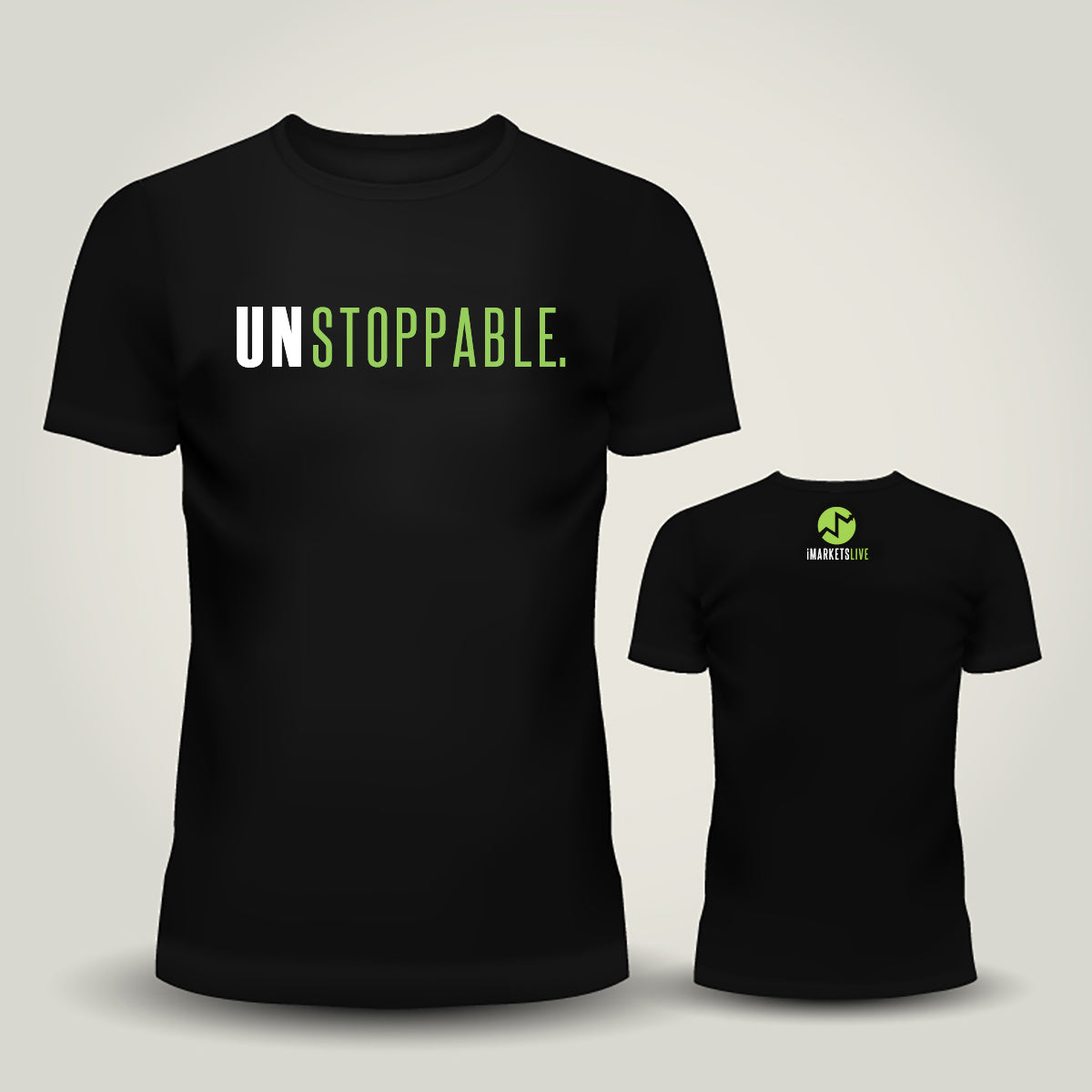 IML Gear - Men's Black Classic Tee - UNSTOPPABLE
