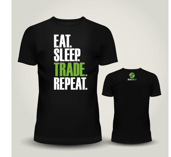 IML Gear - Men's Black Classic Tee - EAT. SLEEP. TRADE. REPEAT.