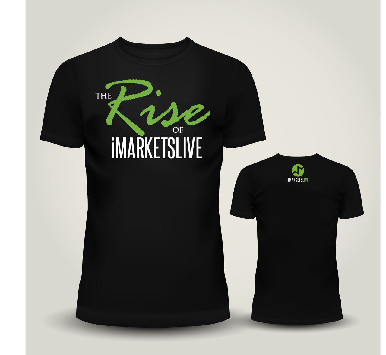 IML Gear - Men's Black Classic Tee - The RISE of iMARKETSLIVE