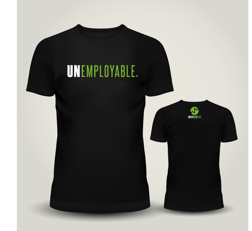 IML Gear - Women's Black Classic Tee - UNEMPLOYABLE | CLEARANCE! JUST $10!