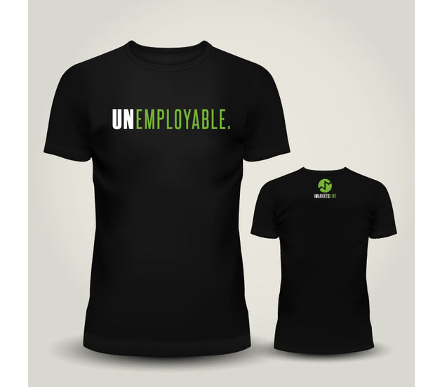 IML Gear - Men's Black Classic Tee - UNEMPLOYABLE
