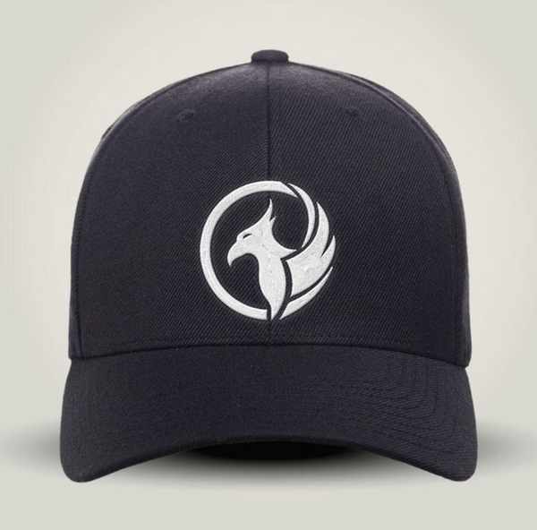 G3 Phoenix Curved Brim Black Flexfit Hat - PUFFY LOGO