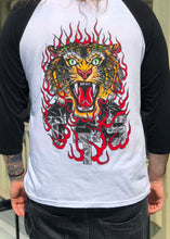 Load image into Gallery viewer, Tiger BLACK/WHITE Baseball T