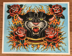 Panther Head LTD Print - Matt Scanlan