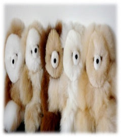 Alpaca Fiber Teddy Bears 12in.