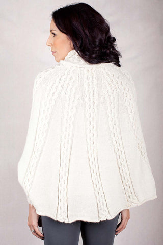 Baby Alpaca Sweater - Star Knit - Ivory