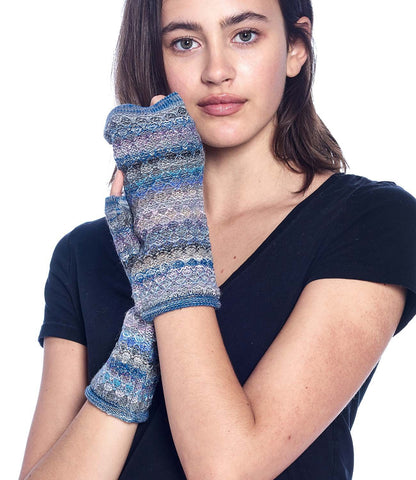 Alpaca Fingerless Gloves- Mosaic