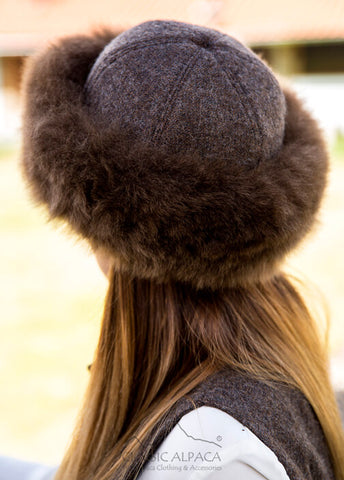 Royal Alpaca Fabric Fur Hat