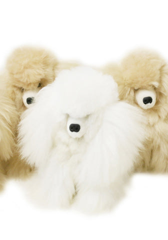 Alpaca stuffed puppy - 10""