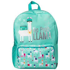 "16.5"" No Prob - Llama Backpack - Mint Green"