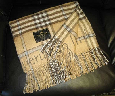 Scottish Throw Camel/Silver