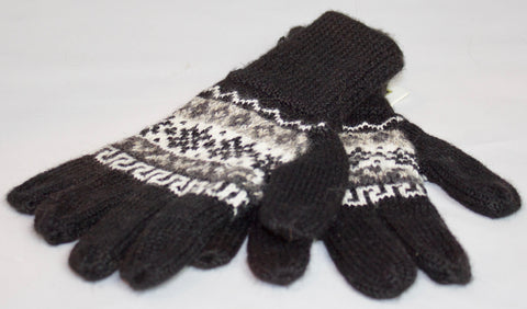 100% Alpaca Hand-Knitted Gloves