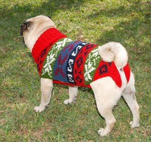 Pachakusi dog sweater/poncho