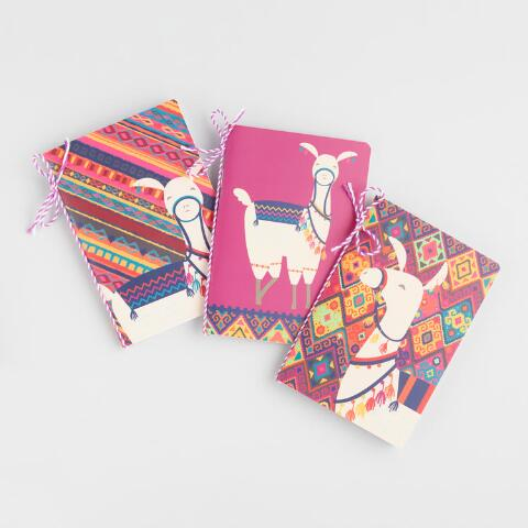 Colorful Llama Journals