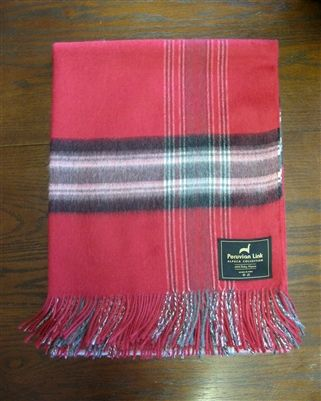 Plaid 100% Baby Alpaca Throw