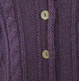 Alpaca Brushed Cable Knit Cardigan