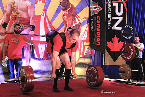 Powerlifter Readying for Competitive Lift