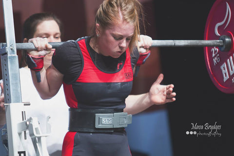 Female Powerlifter Lifting